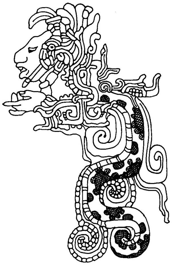 Aztec coloring pages