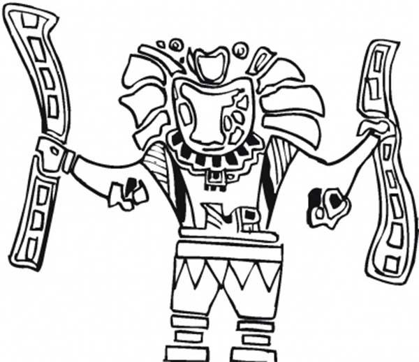 Aztec Eagle Warrior Coloring Pages
