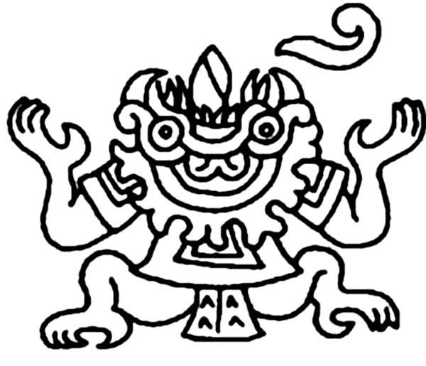 Aztec Goddess Coloring Pages
