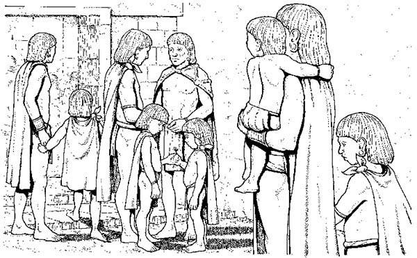 Aztec People Living In Harmony Coloring Pages