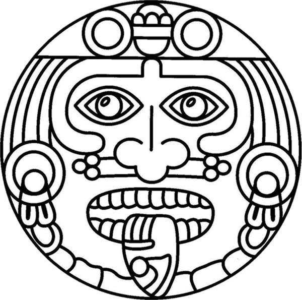 Aztec Symbol Of God Coloring Pages