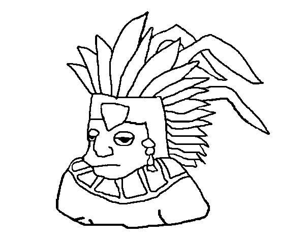 Aztec Tlatoani Coloring Pages