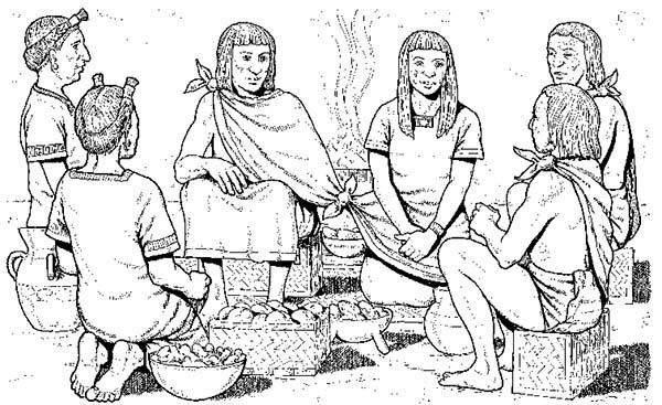 Aztec Wedding Ceremony Coloring Pages