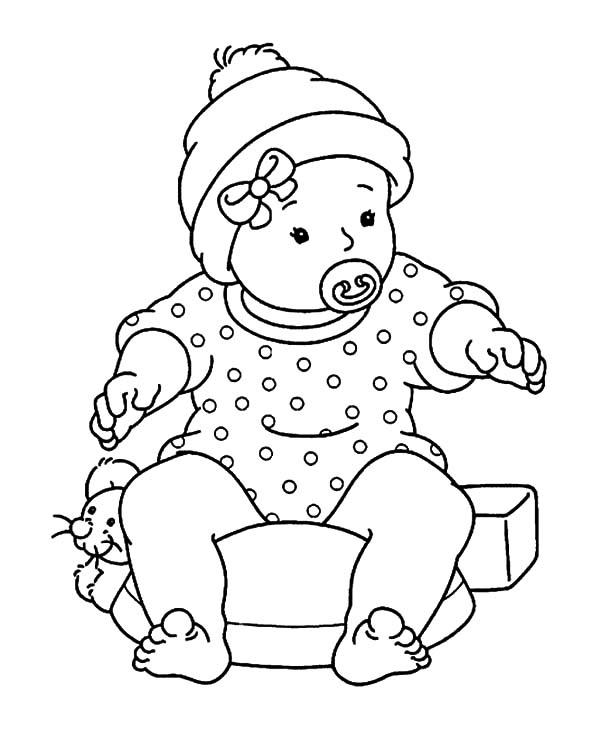 Babies Learn To Sit Coloring Pages