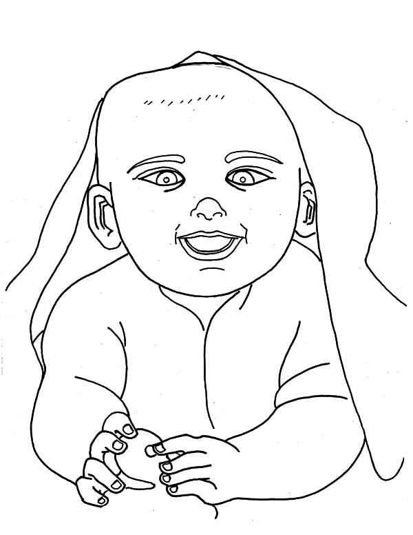 Babies Under His Blanket Coloring Pages