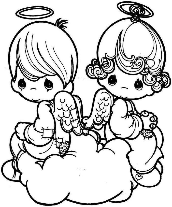 Baby Angels Coloring Pages