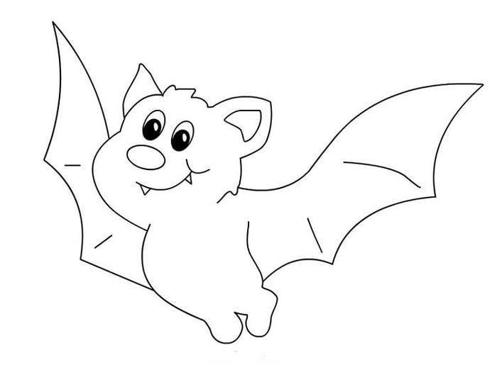 Baby Bat Coloring Pages