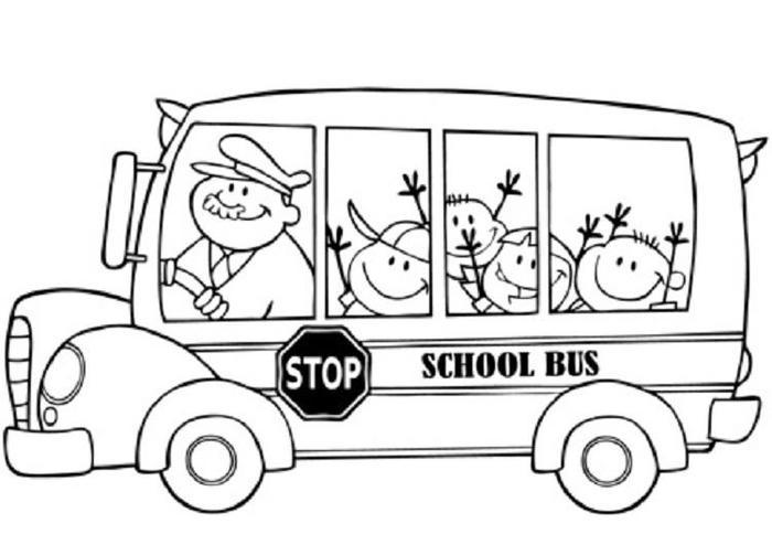 Baby Bus Coloring Pages