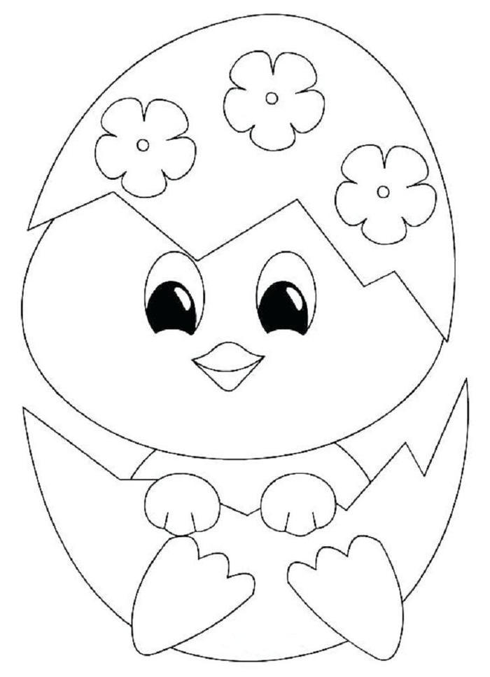 Baby Chick Easter Coloring Pages