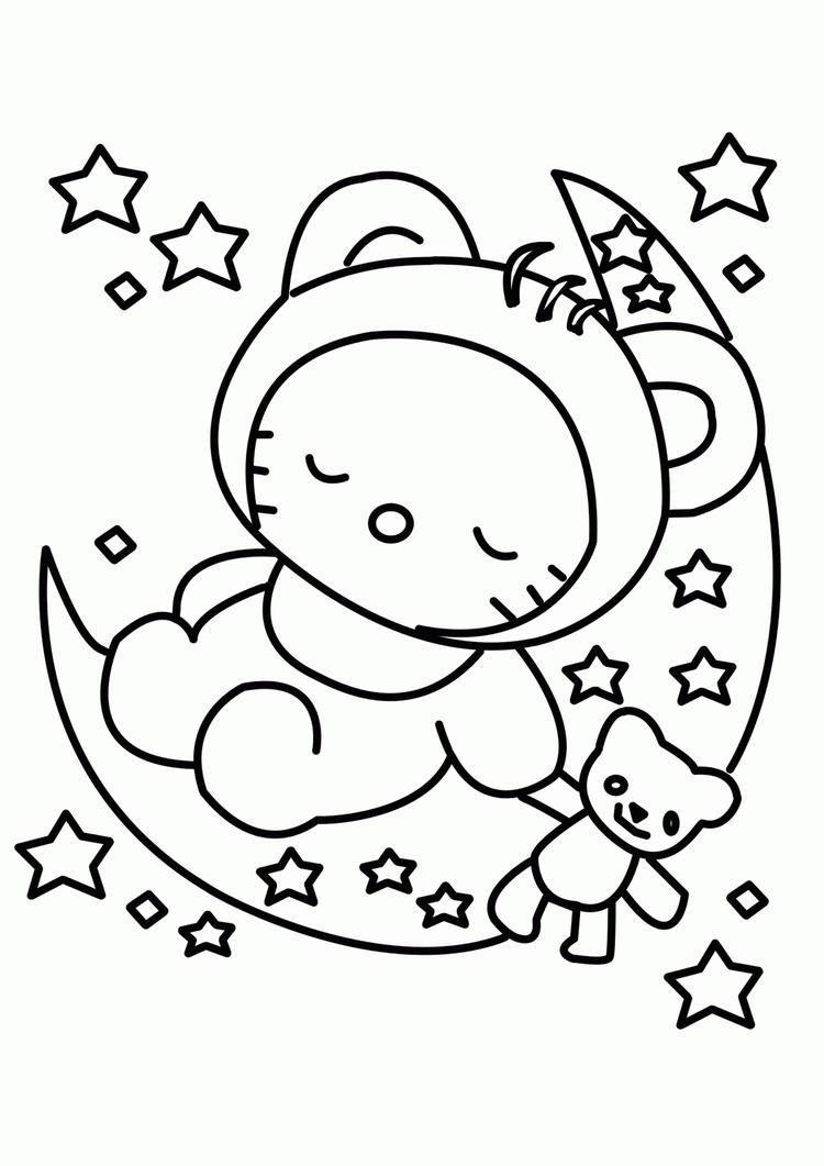 Baby Coloring Pages Hello Kitty