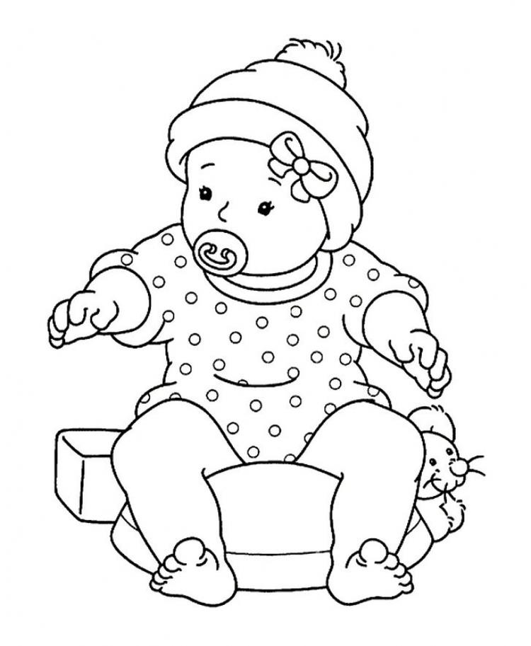 Baby Coloring Pages To Print