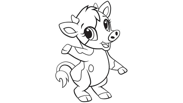 Baby Cow Coloring Pages For Kids