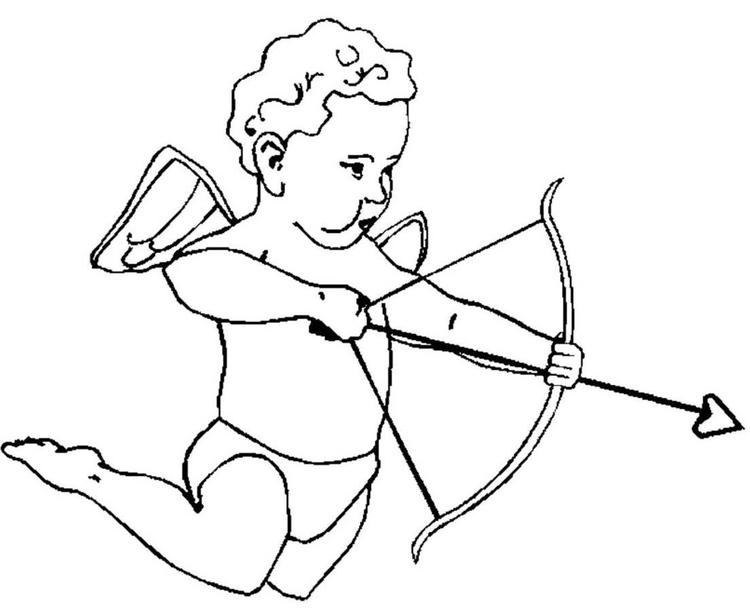 Baby Cupid Valentines Coloring Pages