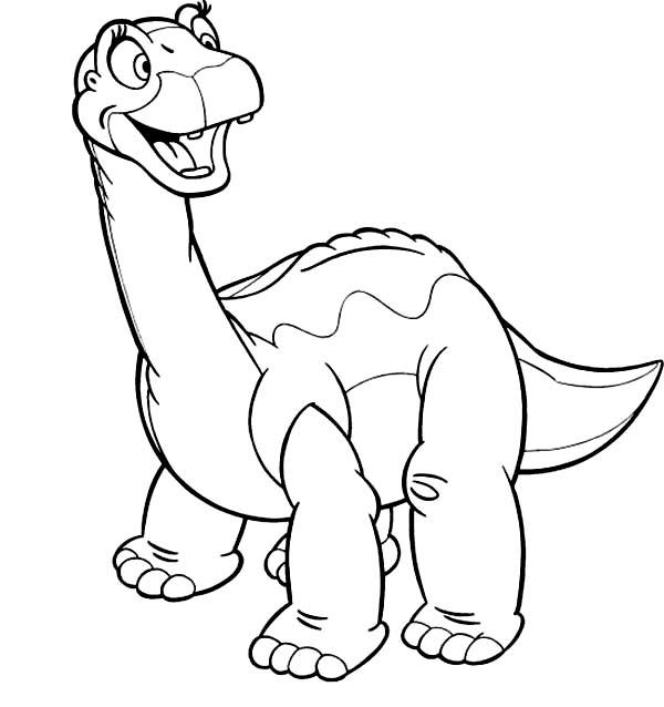 Baby Dinos Big Smile Coloring Pages