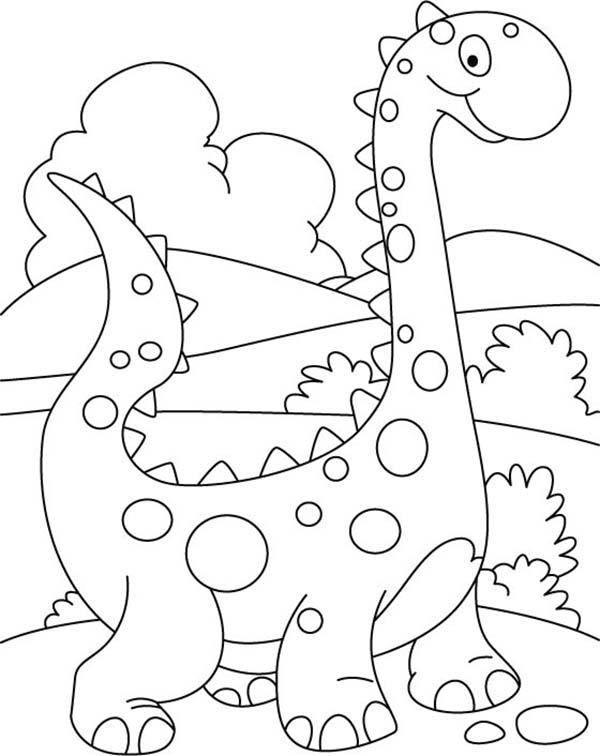 Baby Dinos Dalmatians Coloring Pages