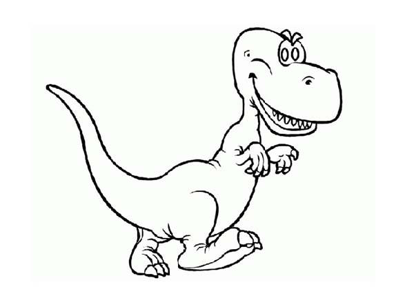 Baby dinos with sharp teeth coloring pages