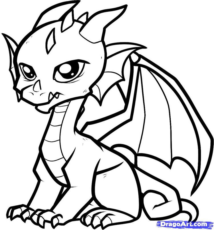 Baby Dragon Coloring Pages For Children