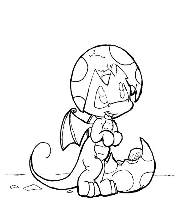 Baby Dragon Coloring Pages To Print Out