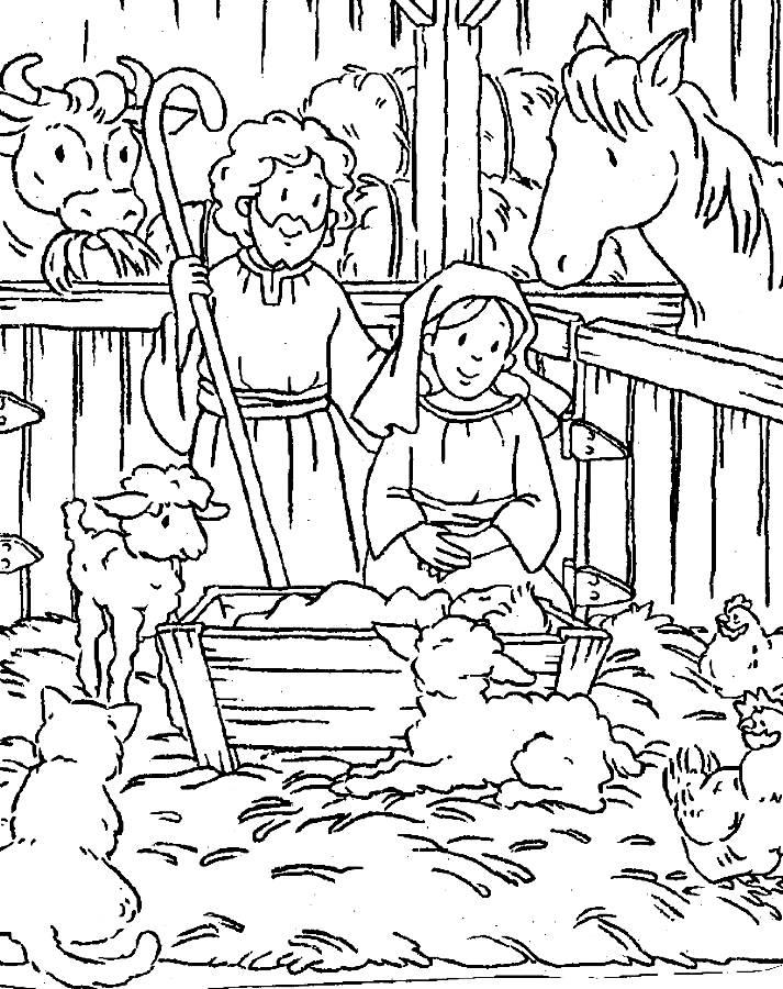 Baby Jesus Christmas Coloring Pages Printable