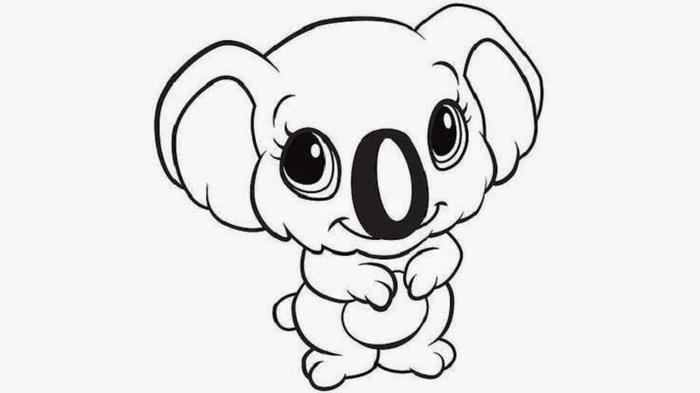 Baby Koala Coloring Pages