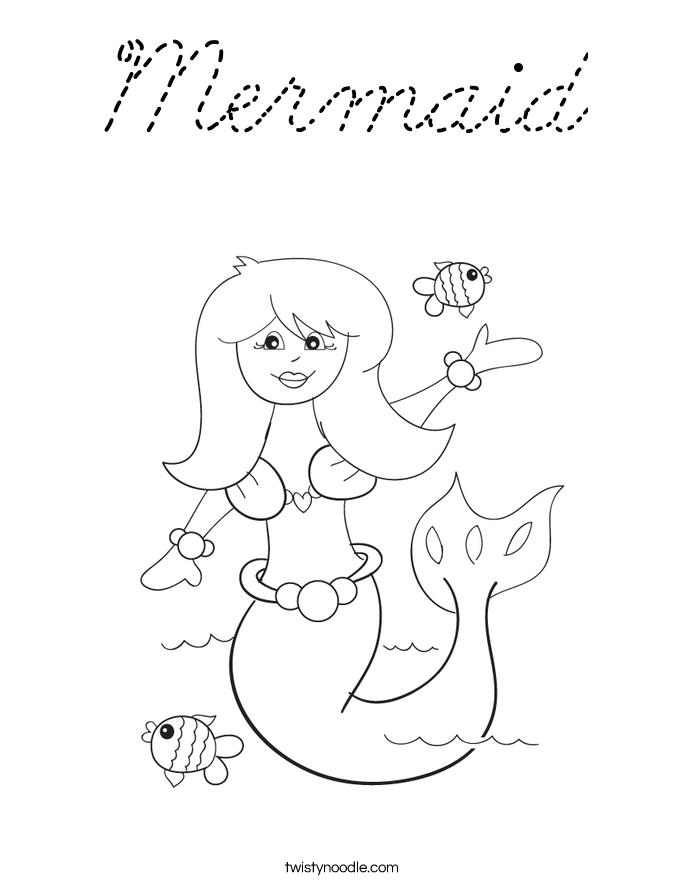 Baby Mermaid Coloring Pages For Child