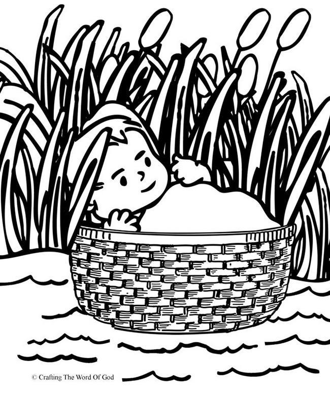 Baby Moses Coloring Book Moses Survived Along The River