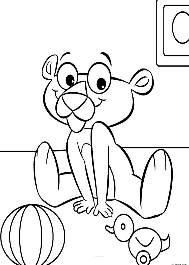 Baby Pink Panther Coloring Page
