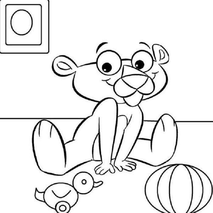 Baby Pink Panther Coloring Pages