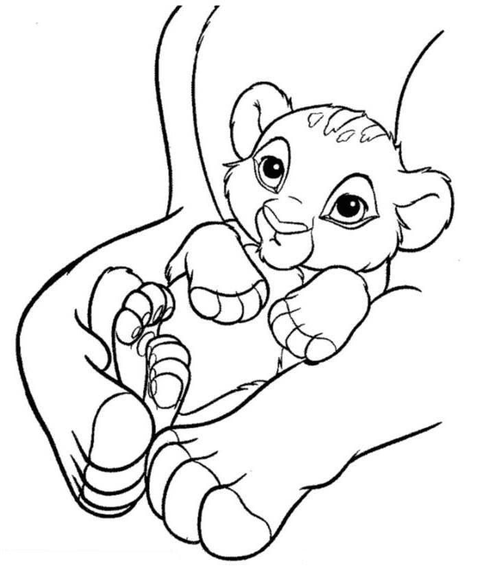 Baby Simba The Lion King Coloring Page