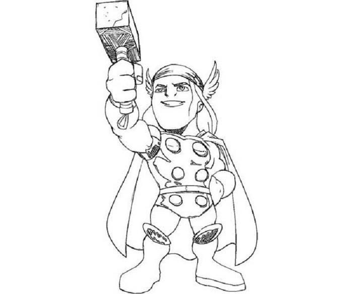 Baby Thor Coloring Pages