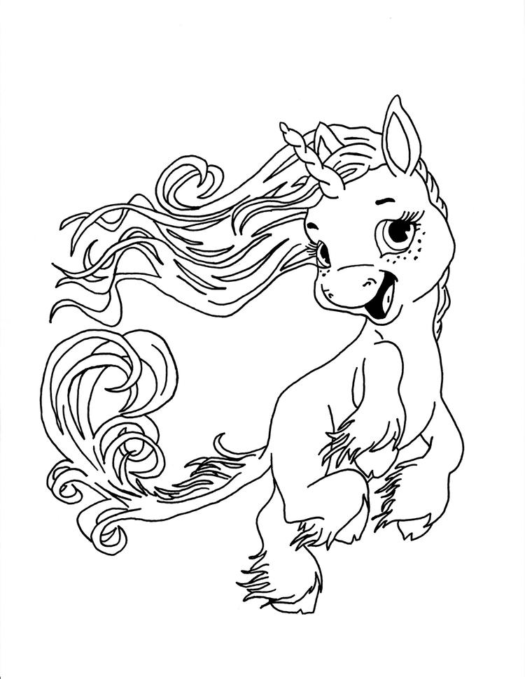 Baby Unicorn Coloring Pages For Kids