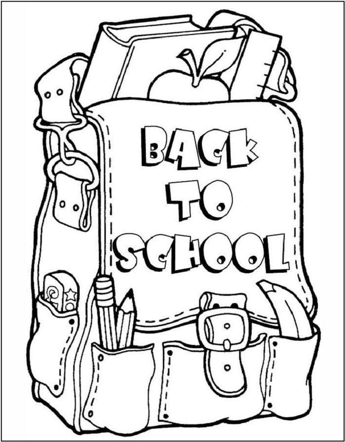 Back To School Coloring Pages Back Pack