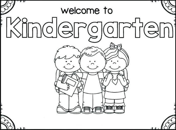 Back To School Coloring Pages For Kindergarten