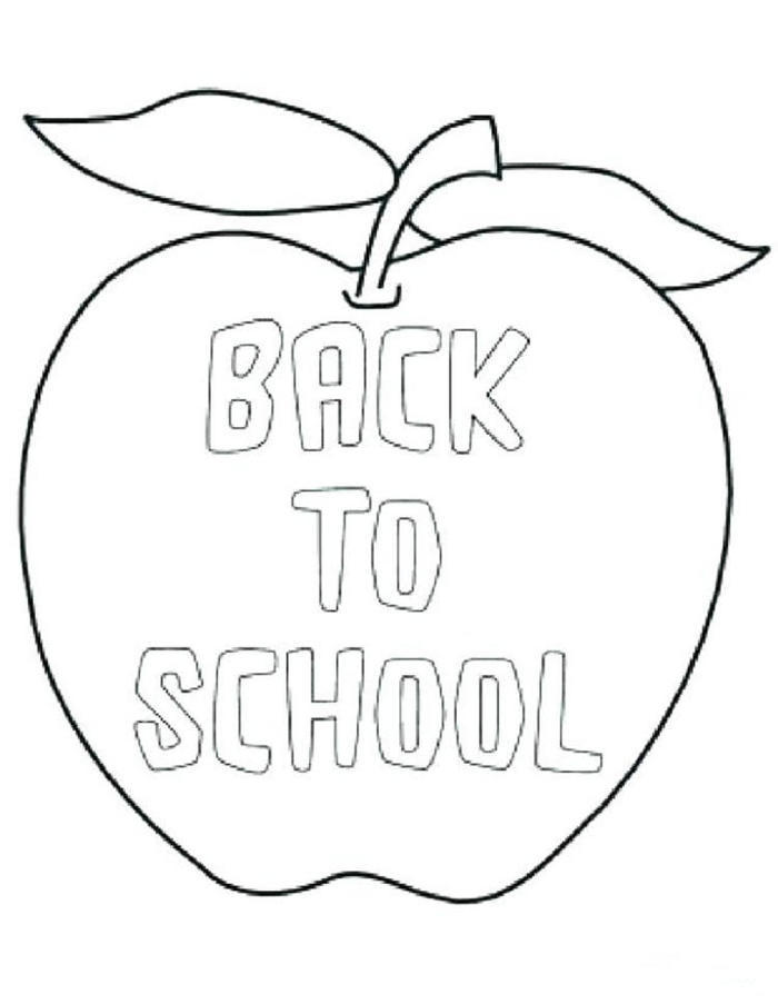 Back To School Coloring Pages For Toddlers