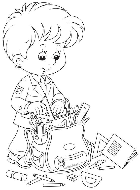 Back to school coloring pages printable for kids