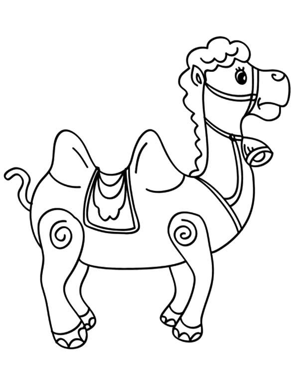 Bactria Camel Carousel Coloring Pages