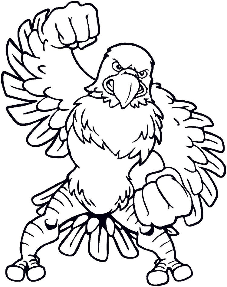 Bald Eagle Coloring Pages Cartoon