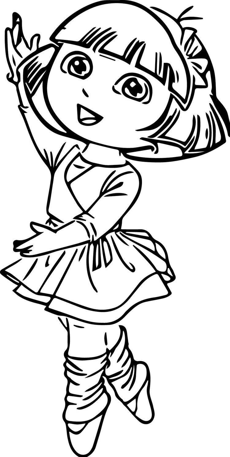 Ballerina Coloring Pages Dora