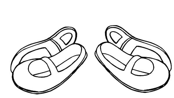 Ballerina Shoes For Kids Coloring Pages