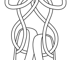 Ballerina shoes for present coloring pages
