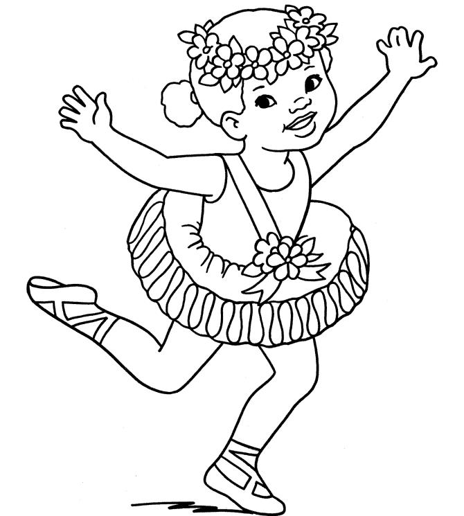 Ballerine Halloween Costume Coloring Pages Printable Kids