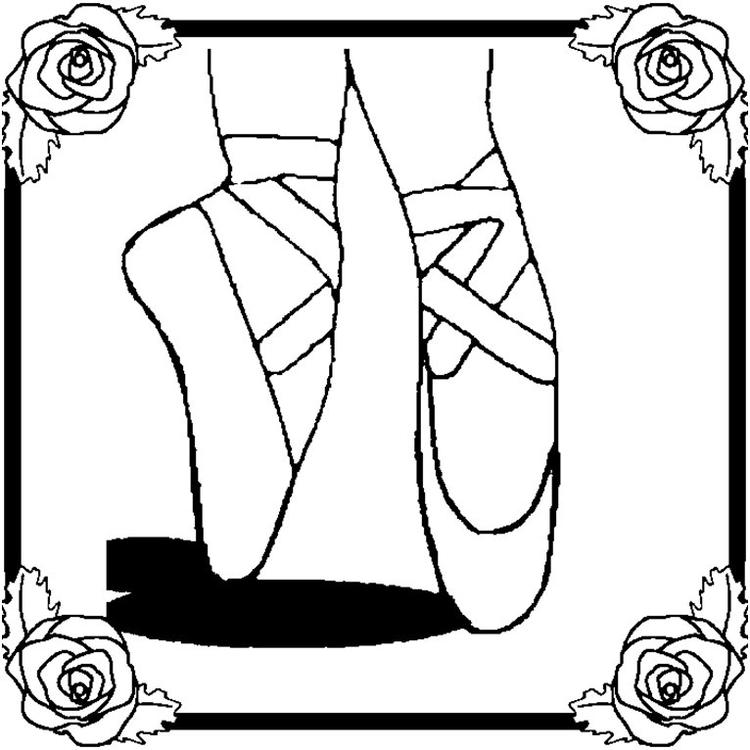Ballet Coloring Pages Ballerina Feet
