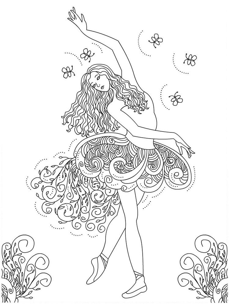 Ballet Coloring Pages For Adults Printable
