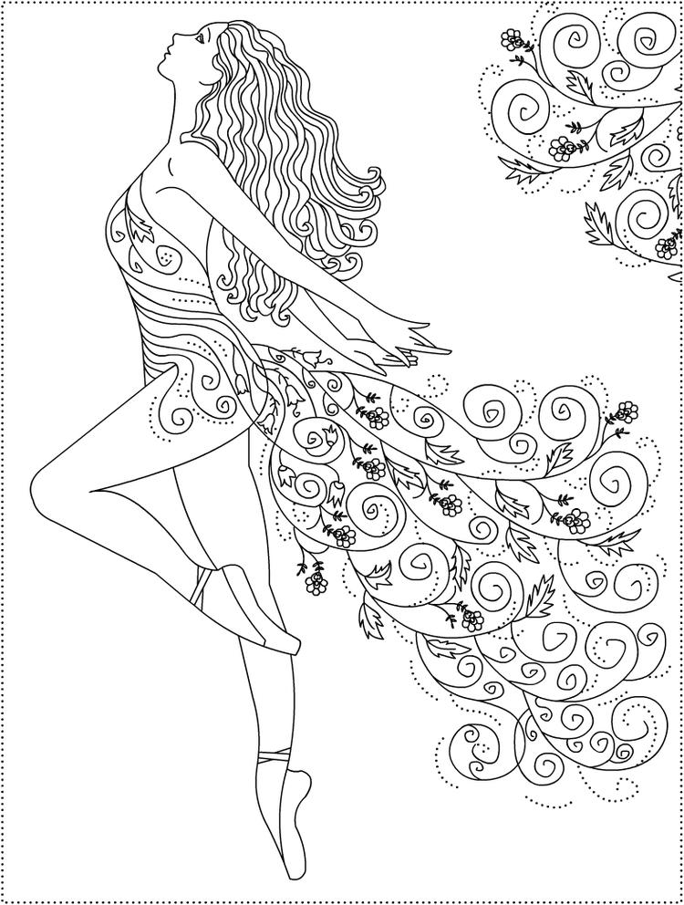 Ballet Coloring Pages For Adults