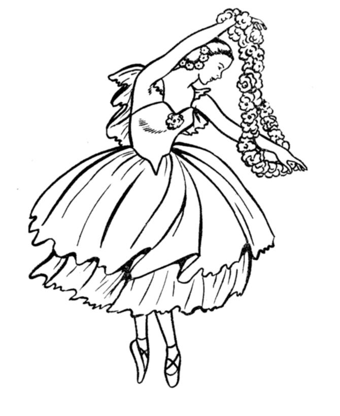 Ballet Coloring Pages Free