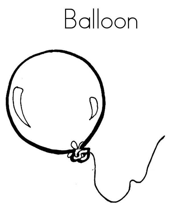 Balloon Coloring Pages For Toddler