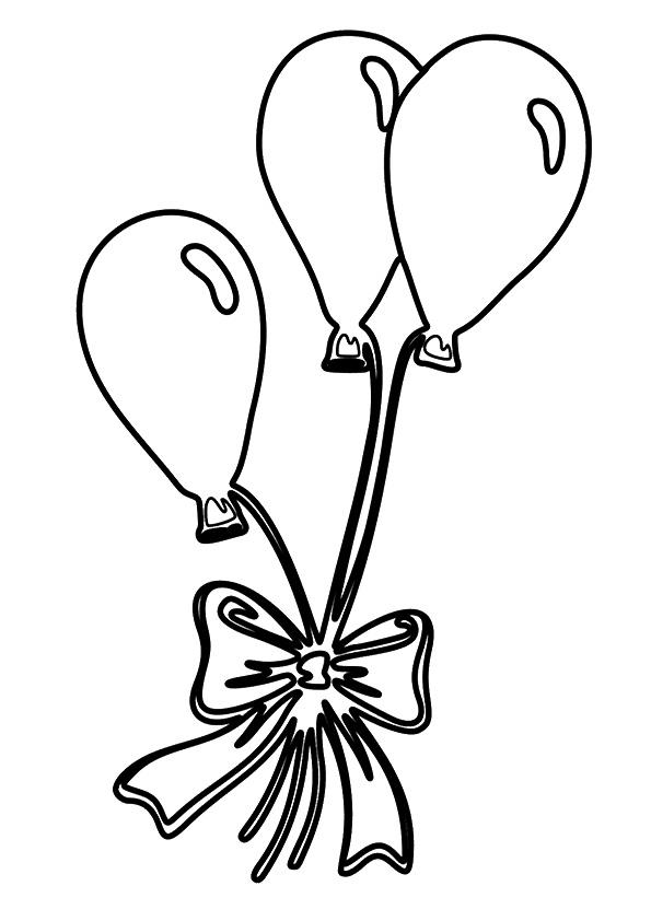 Balloon Coloring Pages Valentines Day