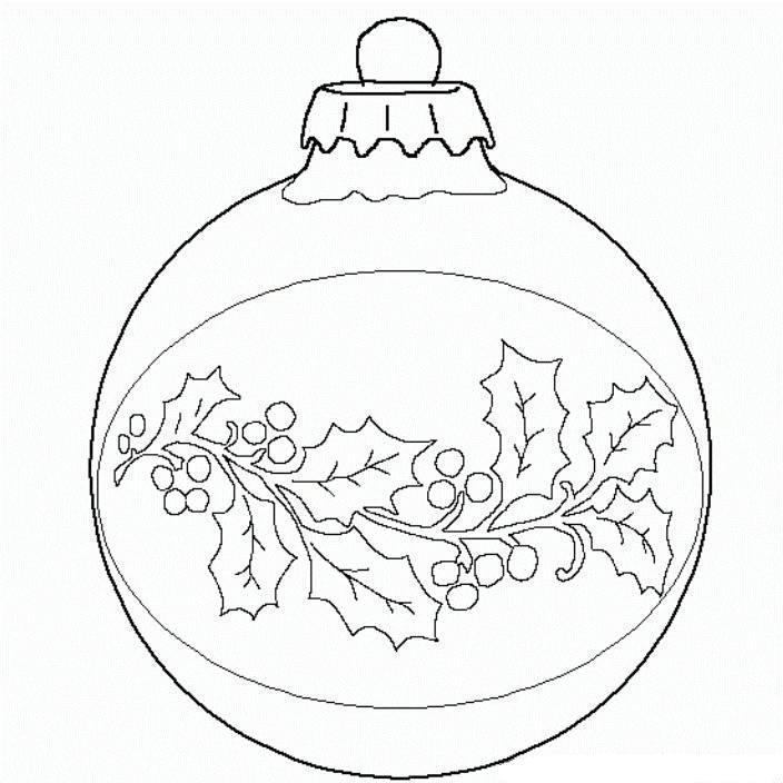 Balls Christmas Ornament Christmas Coloring Page