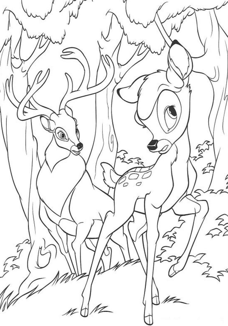 Bambi Coloring Pages And Great Prince