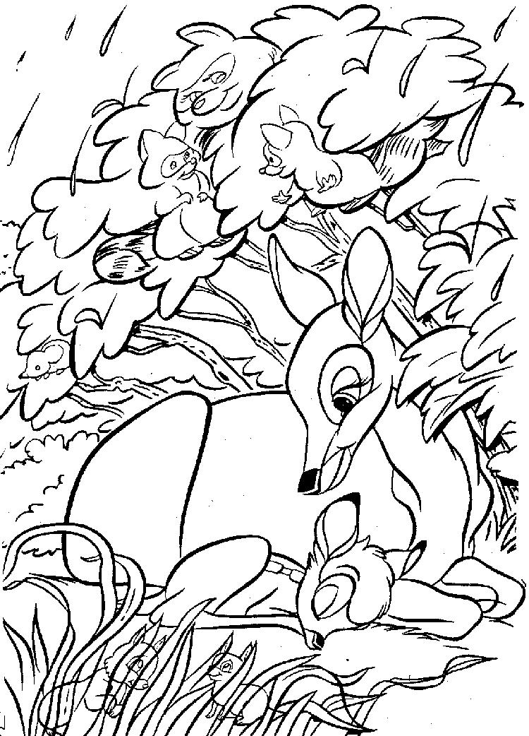 Bambi Coloring Pages And His Mother